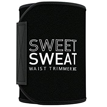 Premium Sweet Sweat Waist Trimmer  Xtra-Coverage  Belt   Premium Waist Trainer with more Torso Coverage for a Better Sweat! Black