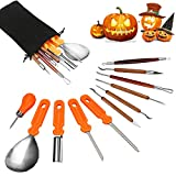 Halloween Pumpkin Carving Tools, Halloween Jack-O-Lanterns 11 Piece Professional Stainless Steel...