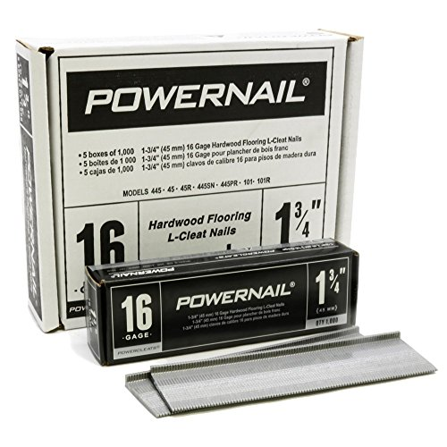 Powernail PowerCleats 16ga 1-3/4' Cleat for Hardwood Flooring box of 5000 cleats