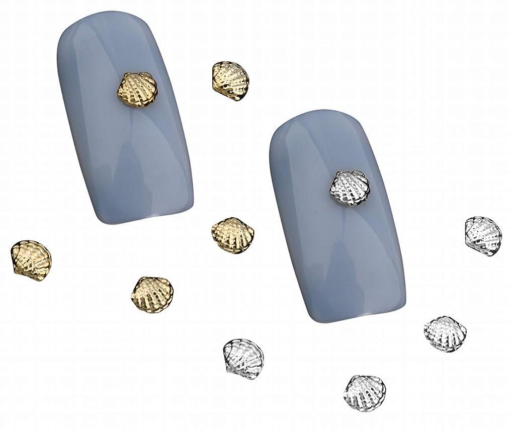 堤防デジタル申し立てSummerys シェル3Dゴールドシルバー合金ネイルズアートラインストーンの装飾チャームジュエリーネイルツール
