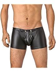 Verano - Pantalones cortos de látex para hombre con cierre
