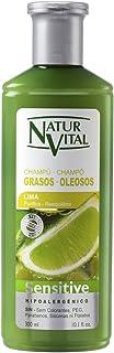 NATUR VITAL champú sensitive cabellos grasos bote 300 ml