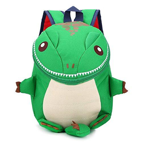 DafenQ 3D Carina Dinosauro bebè Zaino per bambini Prescolastico Zaino Kindergarten Sveglio Zaini per Infanzia Ragazze Ragazzi (Verde)