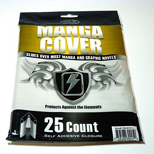 Manga Cover Größe L, 25 Stück