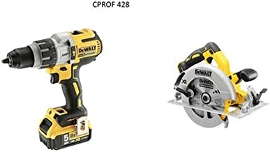 DeWalt CPROF427 CPROF427-KIT XR = DCD996P2 Taladro XRP con 2 baterías Li-Ion 5,0Ah + DCS367NT Sierra Sable Compacta sin escobillas