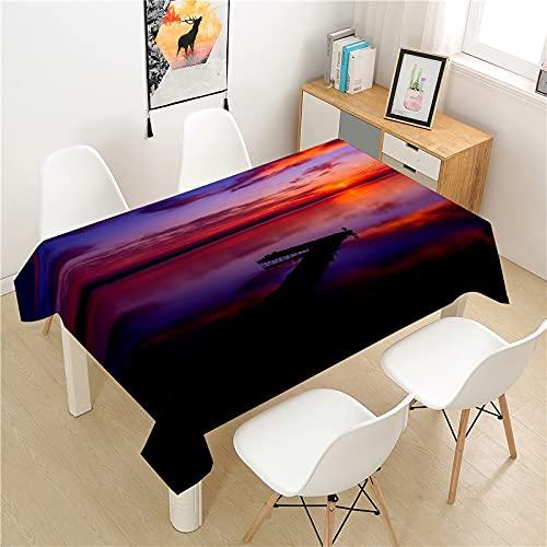 XXDD Mantel Rectangular Impermeable y antiincrustante a Prueba de Aceite Mesa de Comedor y Mesa de Centro de Picnic de poliéster A1 140x160cm
