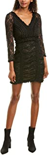 French Connection womens Long Sleeve Lace Mini Dress Formal Dress