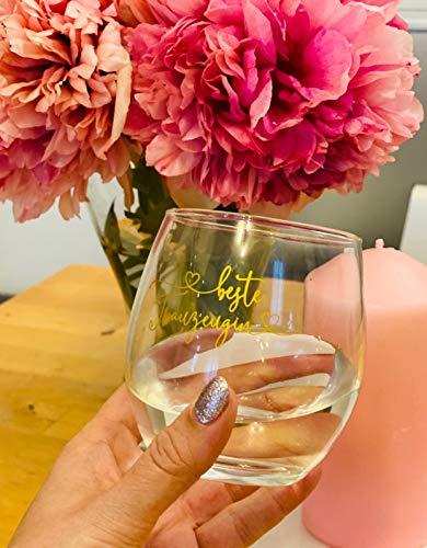 Great Stuff Glas Beste Trauzeugin Wasserglas Geschenk Idee Hochzeit Danke Dankeschön JGA BFF Best Friends Beste Freundin Bridesmaid