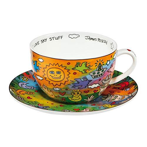Goebel I Love Sky Stuff James Rizzi Motiv Teetasse Cappuccinotasse Tasse mit Untertasse