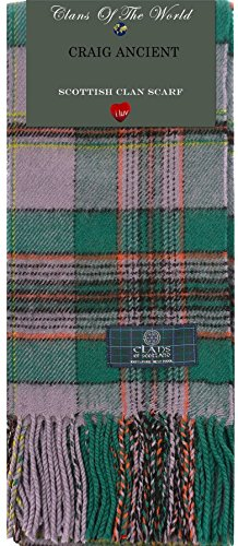 I Luv Ltd Craig Ancient Tartan Clan Scarf 100% Soft Lambswool