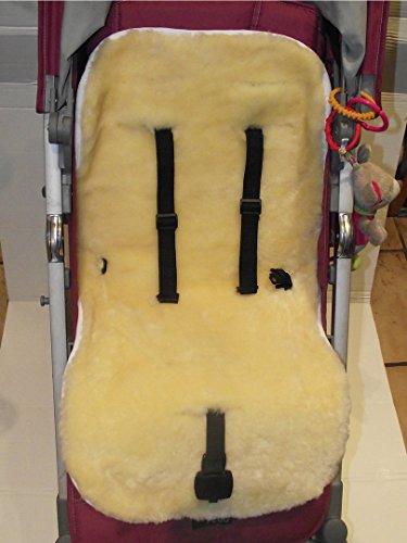 KIWA Kinderwagen Einlage für Kinderwagen Buggy Babybett Kinderbett aus Lammfell medizinisch 100% Merino Lammfell