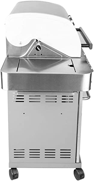 Monument Grills Stainless Steel 4 Burner Propane Gas Grill W Side Sear Burners