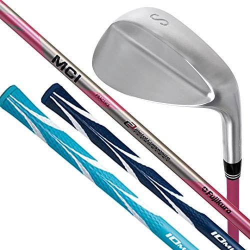 Lynx リンクス ゴルフ フジクラ MCI PRACTICE グニャグニャシャフト搭載 ゴルフ スイング 実打可能 練習器 ウェッジ (軟鉄鍛造ヘッド) IOMIC Sticky Opus3 2.3 グリップ 男女兼用 スカイブルー/ホワイト,MCI/SW(58度)