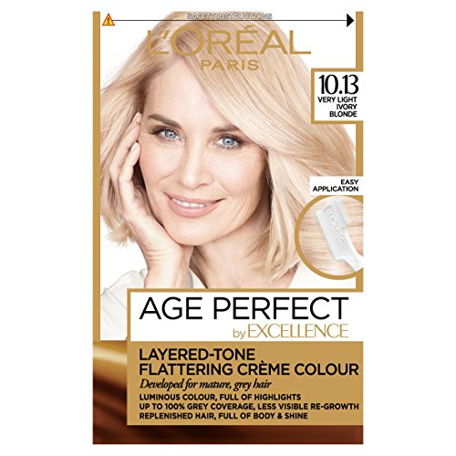 (Very Light Ivory Blonde) - L'Oreal Excellence Age Perfect 10.13 Very Light Ivory Blonde Hair Dye