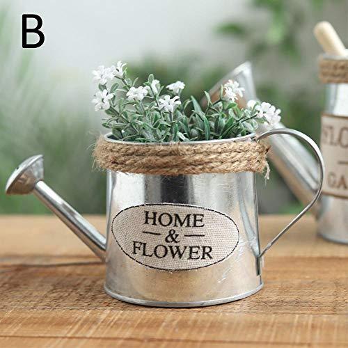 NA Vaas Metaal Handwerk Watering Bloem Pot Arrangement Home Decor Vetplanten Plant Bloemen Emmer Bloem Vaas Tuin Decor