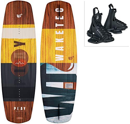 WAKETEC Wakeboard-Set Play mit OnSet Bindung, Package für Anfänger und Fortgeschrittene, 134 cm 139 cm, leicht zu fahren, Körpergewicht 40-85 kg, Kinder Erwachsene Einsteiger, Größe:L-XL, Länge:134 cm