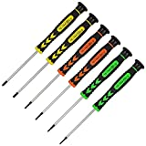 6Pcs Premium Precision Screwdriver Set, Magnetic Flathead and Phillips Screwdrivers with Non-slip Handle and...