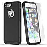 Laiture Phone Case with Screen Protector – Pioneer Series Protective Case, Compatible with iPhone 8/7 Case – Shockproof Double-Layer Shell Smartphone Case (iphone7/8/SE, Black-2)