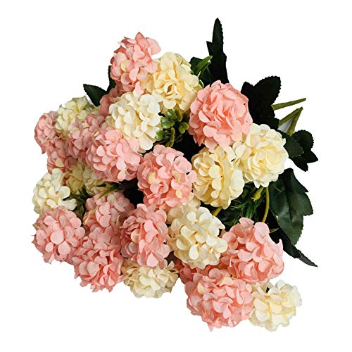 Kirifly Artificial Flowers Fake Silk Mini Hydrangea Bulk Peony Flowers Wedding Decoration Bouquet Decor Plastic Flower Arrangements Table Centerpieces 3 Packs Cream Pink Buy Online In Suriname At Desertcart