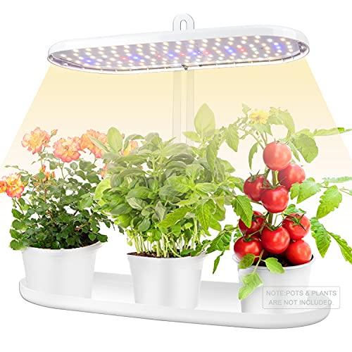 Pflanzenlampe, 4 dimmbare Ebenen Indoor Herb Growing Kit, 3 Timing-Modi Pflanzenlichter, 12V Niederspannung und höhenverstellbare Pflanzenwachstumslichter Leuchten Stand