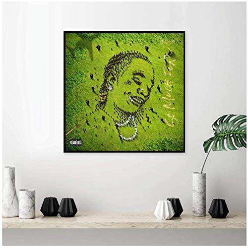 UNFIX Young Thug -So Much Fun Album Cover Poster Pictures Canvas Prints Wall Art Canvas Painting for Home Wall Decor -20x20 Inch No Frame 1 PCS