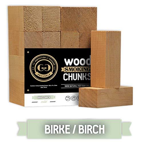 GRILLGOLD Wood Smoking Chunks Birke Räucherchips Birch