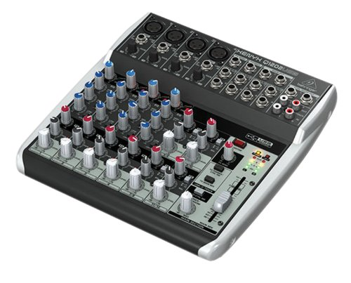 Behringer Q1202USB Xenyx Premium 12-kanaals 2-bus mixer met Mic preamps/compressoren/British EQs en USB/audio-interface