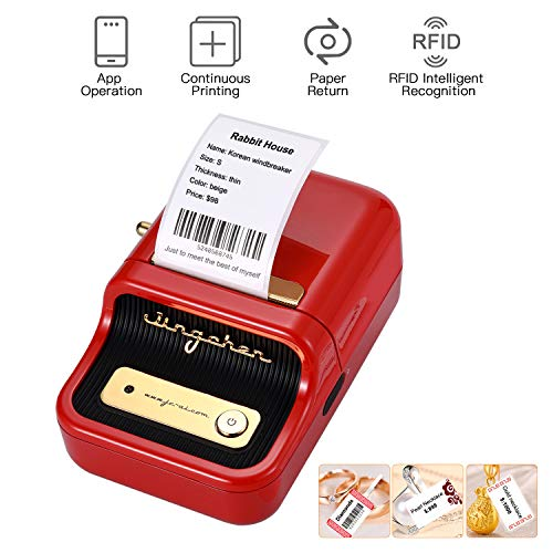 Aibecy Label Printer, Portable Wireless BT Thermal Label Maker Sticker Printer with RFID Recognition Great for Supermarket Clothing Jewelry Retail Store Home Labeling Barcodes Price Name Printing
