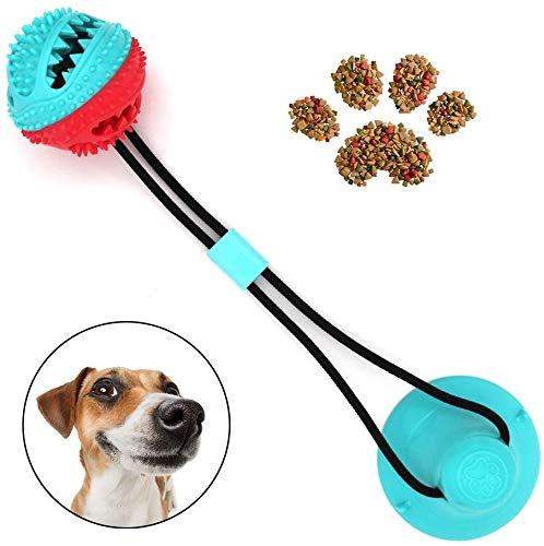 WeyTy Multifunktionale Pet Molar Biss Spielzeug, Selbstansaugendes Gummiballspielzeug mit Saugnapf - ungiftige Zahnpflege aus Naturkautschuk - Zahnreinigungswerkzeug für Hunde und Katzen …