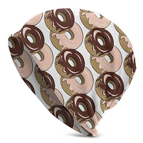 FairyLi Donut Chocolade Crème Beanie Mannen Vrouwen - Privacy Winter Zomer Warm Geboeid Effen Schedel Dagelijks Gebreide Hoed Cap