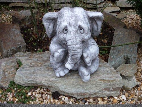 Elefant Frostfeste Steinfigur Gartenfiguren für Haus und Garten