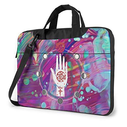 XCNGG Fullmetal Alchemist Anime Laptop Shoulder Messenger Bag Tablet Computer Storage Backpack Handbag 14 inch