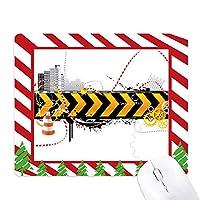 ロゴロング黒と黄色のストリップ ゴムクリスマスキャンディマウスパッド