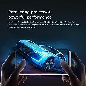 "Xiaomi Redmi Note 9 Teléfono 4GB RAM + 128GB ROM, 6.53"" Pantalla Completa, MTK Helio G85 Procesador Octa-Core, 13MP Frontal y 48MP+8MP+2MP+2MP AI Quad Cámara Trasera Versión Global (Gris)"