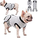ETIAL Dog Recovery Suit Surgical Suit for Female Male Dogs,Dog Onesie Cone E-Collar Alternatives for Recovery Dog Body Suit After Surgery Gray XXL