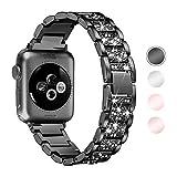 Aottom Cinturino Compatibile Apple Watch SE 44MM Cinturino Orologio 42MM Smartwatch Cinturino Acciaio Ricambio Inossidabile Diamante Braccialetto Cinturini Apple Watch SE/6/5/4/3/2/1, 42MM/44MM