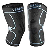CAMBIVO 2 Pack Knee Brace, Knee Compression Sleeve Support for Men and...