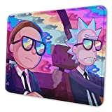 Rick Morty Gaming Mouse Pad Large 11.81 X 9.84 X 0.12 Inches Stitched Edges Waterproof Pixel-Perfect Accuracy Optimized for All Computer Mouse Sensitivity and Sensors