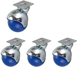 4 x Plaat Universele Nylon Swivel Ball Castor wielen, 2 inch (50mm), Heavy Duty slijtvaste wielen voor meubels Industrieel...