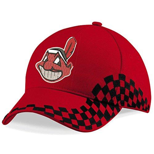 caprica91 Cleveland Indians Baseboll Bestickte Logo VIP Baseball Cap Mütze - 1092 VIP - ROT
