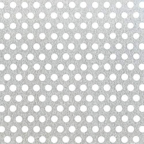 GAH-Alberts 467043 Lochblech | runde Lochung | Aluminium, natur | 250 x 500 x 1,5 mm