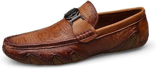 LINDANIG La Première Couche De Chaussures pour Hommes Hommes en Cuir Cousue à La Main des Chaussures pour Hommes  offrant 100%