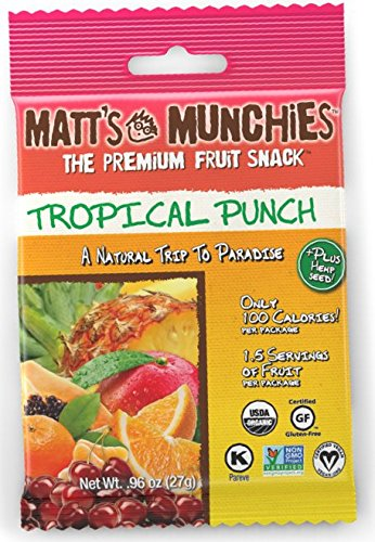 Matt's Munchies Snack, Tropical Punch, 0.96 oz