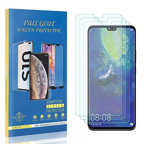 GIMTON Displayschutzfolie für Huawei Mate 30, 9H Härte Kratzfest Panzerglasfolie, Ultra Transparente Schutzfilm aus Gehärtetem Glas für Huawei Mate 30, 3 Stück