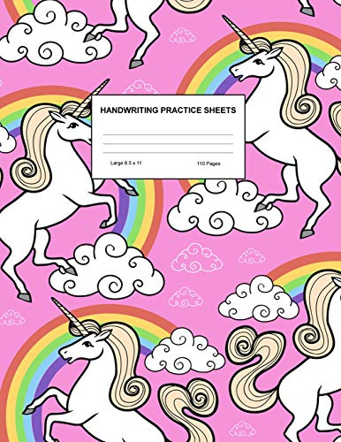 Handwriting Practice Sheets: Cute Blank Lined Paper Notebook for Writing Exercise and Cursive Worksheets - Perfect Workbook for Preschool, ... 3rd and 4th Grade Kids - Product Code A4 2291