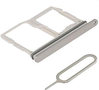 شريحة MMOBIEL بفتحة لبطاقة SD متوافقة مع LG G6-5.7 بوصة (آيس بلاتين) بما في ذلك دبوس شريحة الاتصال