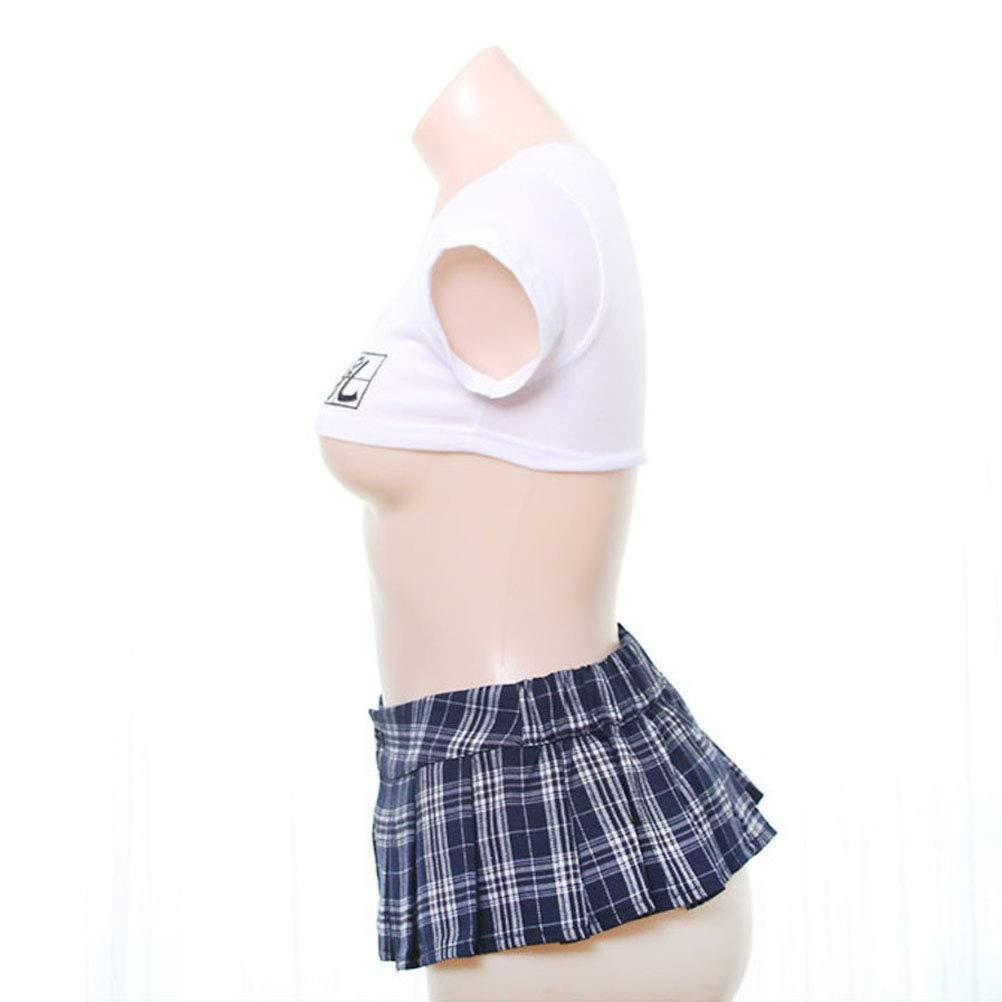 CZ-XING - Lencería Sexy para Mujer - Disfraz de Colegiala para ...