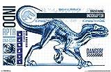 Trends International Jurassic World: Fallen Kingdom - Indo-Raptor Wall Poster, 22.375' x 34', Poster & Mount Bundle
