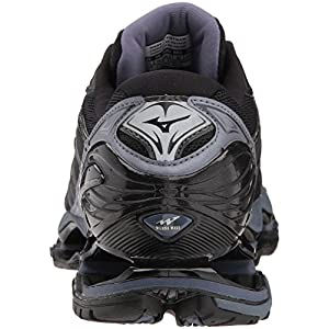 Mizuno Men's Wave Prophecy 7 Running Shoes, Black/Silver, 8 D US