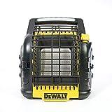 DEWALT F332000 12,000 BTU Portable Cordless Heavy Duty Radiant Heater, Black (Renewed)